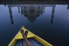 Reflection of the #TajMahal in Agra, India. 2002. © #SteveMcCurry