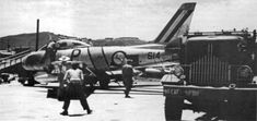 South African Air Force No 2 Squadron, Preparing 614 'P' (ex USAF 52-4355 'Valerie') for flight. This aircraft  was written off after being flown by Lt M.C. Botha on 28 August 1953. SAAF, in the Korean War