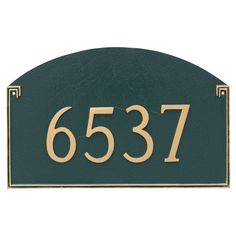 Montague Metal Georgetown Standard One Line Address Sign Wall Plaque - PCS-0041S1-W-SBS