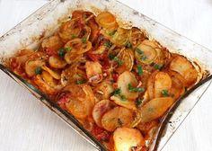 Pečená cuketa so zemiakmi a zeleninou
