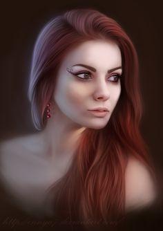 Girl, portrait by Ennya7.deviantart.com on @deviantART