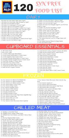 Aldi Slimming World Shopping List: 300 Budget Items for the Busy Mum - Savings 4 Savvy Mums