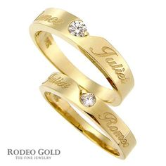 Gold initial rings TCR09257