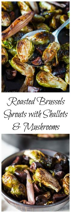 Roasted Brussels Sprouts with Shallots and Mushroo…
