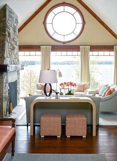 lakeside living room | Anne Hepfer Designs
