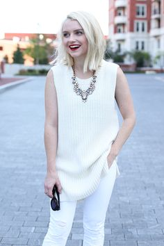 Ivory Sweater Tunic on Poor Little It Girl - @poorlilitgirl