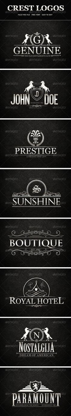 Crest Logos | Buy and Download: http://graphicriver.net/item/crest-logos-vol-01/7786088?WT.ac=category_thumb&WT.z_author=veastudio&ref=ksioks