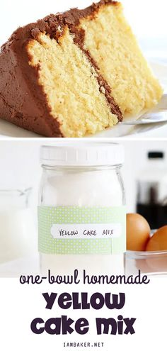 No more boxed cake mix recipes with this homemade yellow cake mix! The cake mix ingredients include flour, sugar, baking powder, salt, milk, vegetable oil, butter, vanilla extract, and eggs. It's the best yellow cake mix ever! Cake Recipes With Oil, Box Cake Recipes, Dessert Recipes, Appetizer Recipes, Desserts, Homemade Vanilla Cake, Vanilla Cake Mixes, Cake Mix Ingredients, Homemade Pretzels