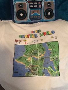 Super Seattle World shirt from prcclothing.com in Seattle. #nintendo #supermario