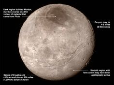 The probe also captured detailed images of Charon, and they dubbed this wide dark area as Mordor. Maybe Sauron really exist.