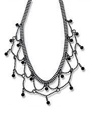 Multi Stone Bib Necklace