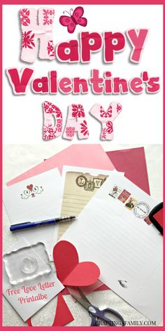 I love to send Valentines. These quick and easy Printables make my Valentine's Day cards and letters easy and beautiful. Check out the whole Printable Library. Craftingafamily.com