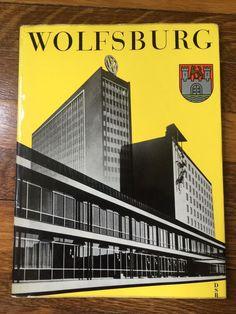 Vintage 1961 VW Wolfsburg Illus Book Volkswagen Factory Photos HC DJ | eBay