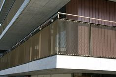 streckmetall geländer - MetallPfister Veranda Railing, Balcony Railing, Stair Railing, Railings, Balustrade Design, Railing Design, Steel Handrail, Steel Stairs, Design Hotel