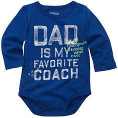 Long-Sleeve OshKosh Original Slogan Bodysuit | Baby Boy Graphic Tees