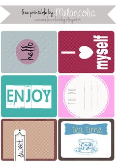 FREE printable melancolia project life free card scrapbooking