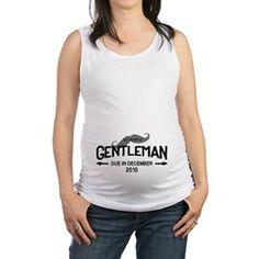937e44fc857e2f Gentleman Mustache Baby Boy Maternity Tank Top Pregnancy Gifts