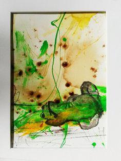 Sonnenbaden - Acryrell - Frosch