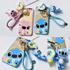 cute Cartoon Pink Stitch Ring Stand String Soft cover case for iPhone plus Disney Stich, Lelo And Stitch, Lilo And Stitch Quotes, Cute Disney Outfits, Friends Phone Case, Cute Stitch, Iphone Cases Disney, Diaper Bag, Coque Iphone