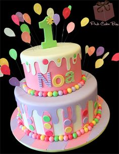 Dripping Icing Birthday Cake by Pink Cake Box