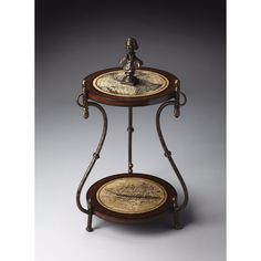 BUTLER WORLD MAP ACCENT TABLE