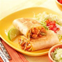 Barbecue Chicken Burritos Recipe -We always have the ingredients for these on hand. My husband came up with this recipe, and it turned out to be a hit! —Amy Dando, Apalachin, New York