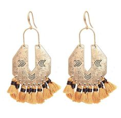 Purchase Trendy Tassel Bronze Fan Shape Drop Earrings from STYLEDOME on OpenSky. Share and compare all Jewelry. Bohemian Style Jewelry, Trendy Fashion Jewelry, Big Fashion, Bohemian Jewelry, Fashion Earrings, Fashion Trends, Boho Style, Boho Chic, Victorian Jewelry