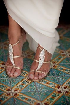 Gold white silver wedding shoes heeled sandals photography luxe glam