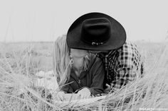 <3 cute couple picture for anyone who has a fella that wears a cowboy hat