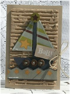 Boy sailboat card ⊱✿⊰ Join 1,400 others & follow the Cards and paper crafts board. Visit GrannyEnchanted.Com for thousands of digital scrapbook freebies. ⊱✿⊰