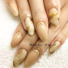 #nail #nailart #gelnails #beigenails #stone #simple #milienail #sapporo #nailsalon