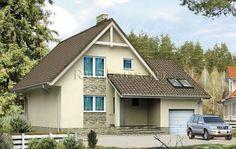 Небольшой дом с гаражом и мансардой R1550