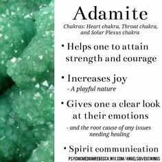 Adamite crystal meaning