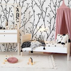 Finally, we know why all good things are described as 'rosy'. If you're looking for kids room decor ideas, look no further than our Rosy Forest – it's so pretty it's as if it comes with rose-tinted glasses! Kids Decor, Decor Ideas, Forest Room, Little Monkeys, Get The Look, Kids Room, Toddler Bed, Clever, Things To Come