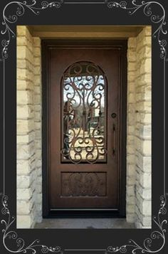 New Wrought Iron Single Entry Door