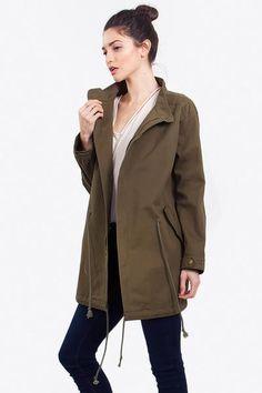 FORMATION ANORAK JACKET Cargo Jacket, Olive Green Jacket, Summer Jacket, Spring Jacket, Adjustable Jacket, outfit ideas, what to wear, jacket outfit, womens fashion, girls fashion, style inspiration