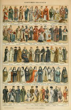 Le Larousse pour tous : Costumes Religieux