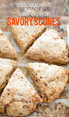 Sriracha Almond, Bacon, and Sharp Cheddar Scones