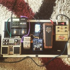 Thats my current pedalboard, ibanez tube king compressor is a very special one and i use line6 m5 for mod and synth effects, and i like digital delay especially with tap tempo, jim dunlop jerry cantrell wah is the best wah i ever used