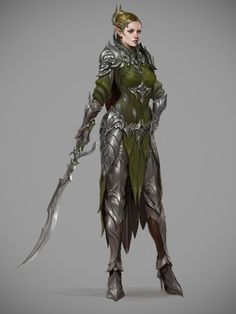 ArtStation - elven knights costume for archeage , Sungryun Park