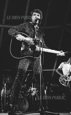 Johnny Hallyday en concert à Dijon le 18 octobre 1976