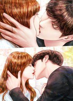 My Secret Romance Cute Couple Drawings, Anime Couples Drawings, Cute Couple Art, Anime Couples Manga, Anime Couple Kiss, Manga Couple, Anime Love Story, Manga Love, Romantic Anime Couples