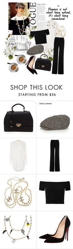 """""""The Devil Wears Prada Inspired"""" by sc-styles ❤ liked on Polyvore featuring Prada, Bhode & Company, HUGO, Diane Von Furstenberg, Chanel, Alice + Olivia and Christian Louboutin"""