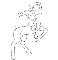How to draw a centaur