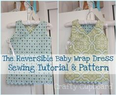 Free pattern: Reversible wrap dress for baby...okay, someone needs to have a girl now!