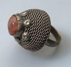 Afghanistan | Ring; metal (silver?), stone (carnelian) | Turkoman | Purchased 1970. Locale; Charikar