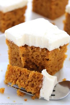 Homemade Pumpkin Cake with Cream Cheese Frosting -  cincyshopper
