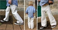 TUTORIAL: Kid Pants with a Flat Front | MADE  I have some hounds tooth that this will look awesome with!