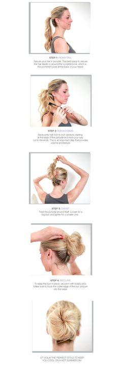 How to Create a DIY Soft, Tousled Bun