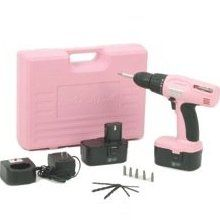 Pink 18v Drill. I want all pink tools to keep my  husband off my stuff, he steals everything!